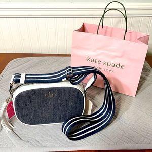 Kate Spade leather and denim purse